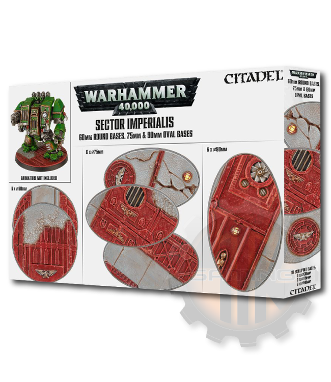 Games Workshop S/Imperialis: 60Mm Rd+75/90Mm Oval Bases