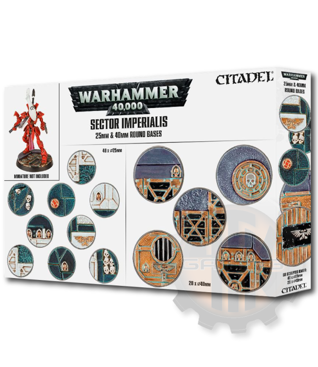 Games Workshop Sector Imperialis: 25 & 40Mm Round Bases