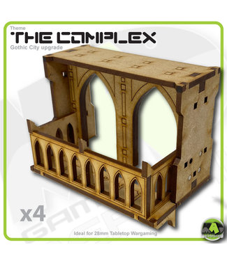MAD Gaming Terrain Complex - Large Wall Balconies Pack