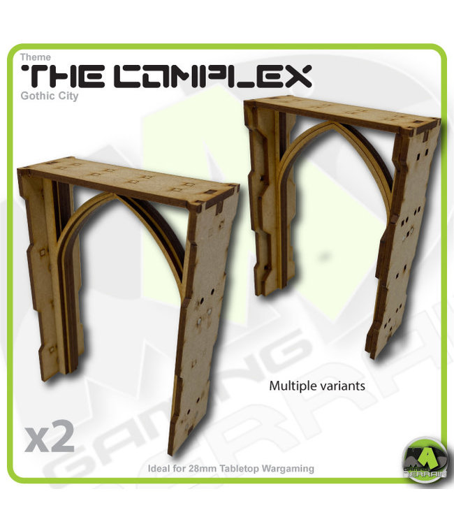 MAD Gaming Terrain Complex - Double Height Large Wall Arch Pack