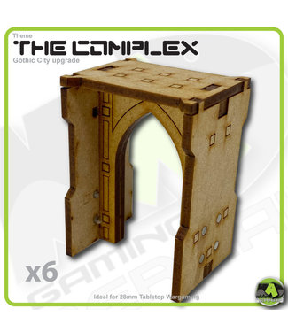 MAD Gaming Terrain Complex - Small Wall Arch Pack