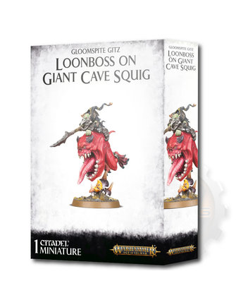 Age Of Sigmar G/Spte Gitz Loonboss On Giant Cave Squig