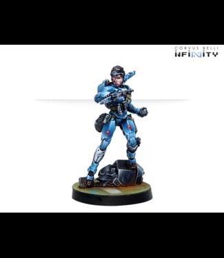 Infinity Patsy Garnett, Orc Troops Varuna Div. NCO (Submachine Gun)