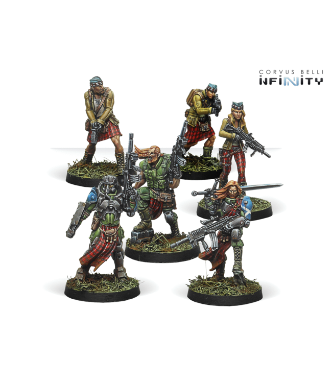 Infinity Caledonian Highlander Army (Ariadna Sectorial Starter Pack)