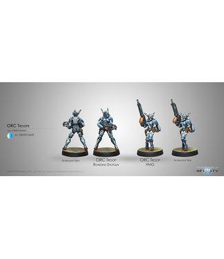 Infinity Orc Troops (HMG/Boarding Shotgun)