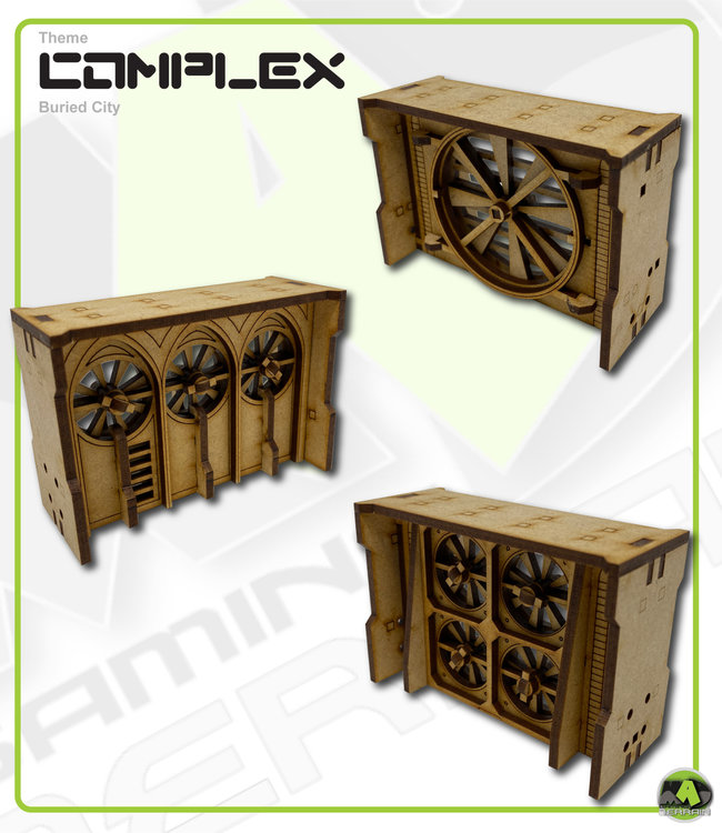 MAD Gaming Terrain Large Wall Variety Fan pack