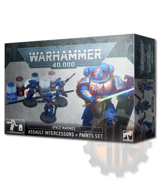 Warhammer 40000 Space Marine Assault Intercessors Paint Set