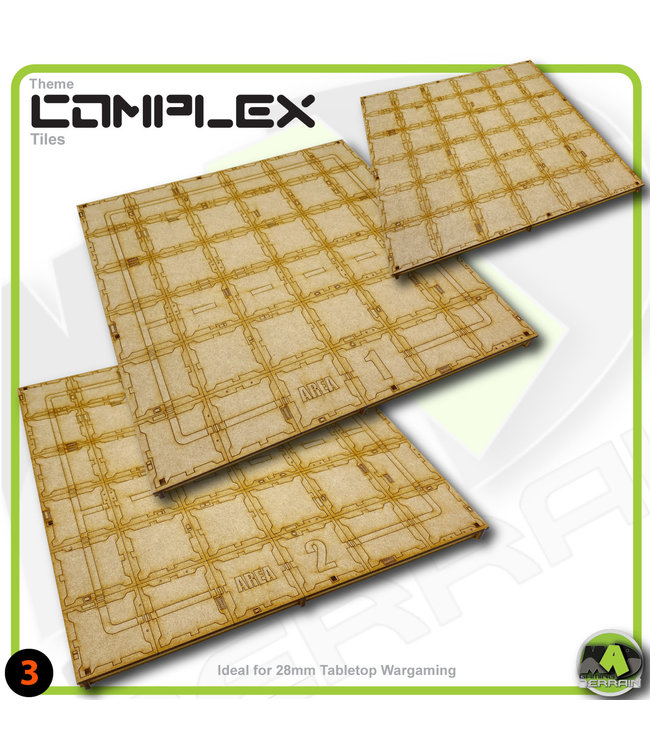 MAD Gaming Terrain Large Storage Area Tile Pack