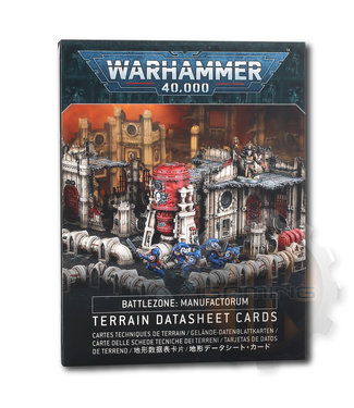 Warhammer 40000 B/Zone Manufactorum Datasheet Cards