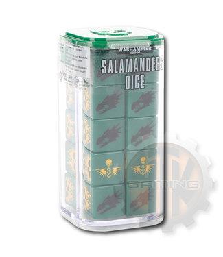 Warhammer 40000 Salamanders Dice Set