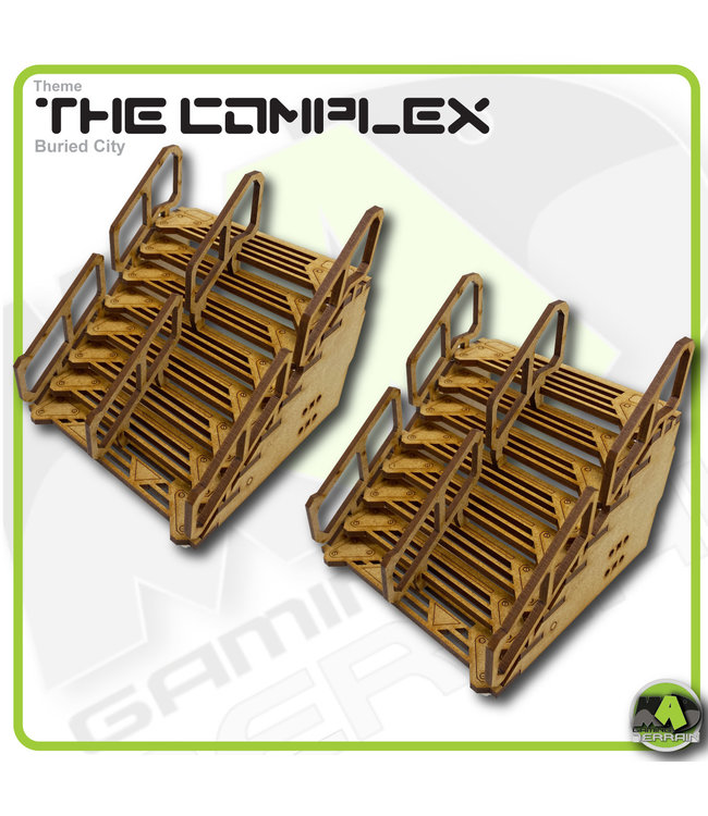 MAD Gaming Terrain Double Width Straight Stairs