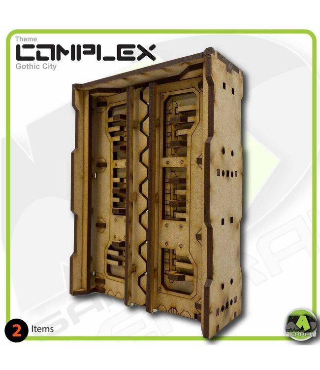 MAD Gaming Terrain Double Height Large Industrial Door T2
