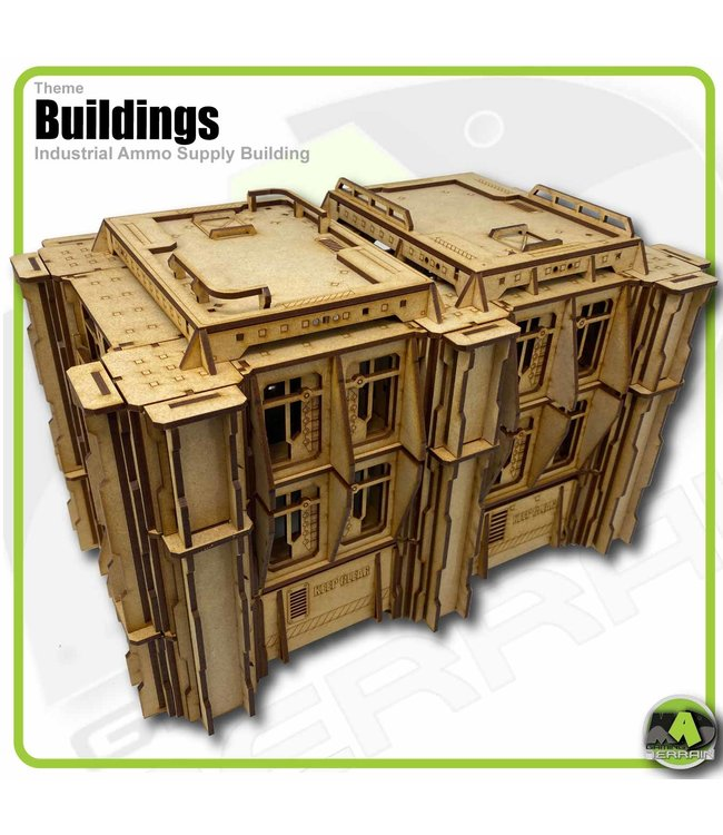 MAD Gaming Terrain Industrial Ammo Supply Building