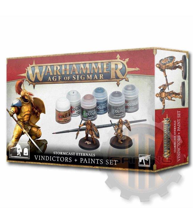 Age Of Sigmar AOS Stormcast Eternals Vindictors + Paint Set