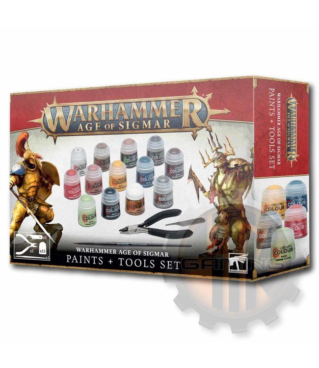 Age Of Sigmar AOS Paints+Tools