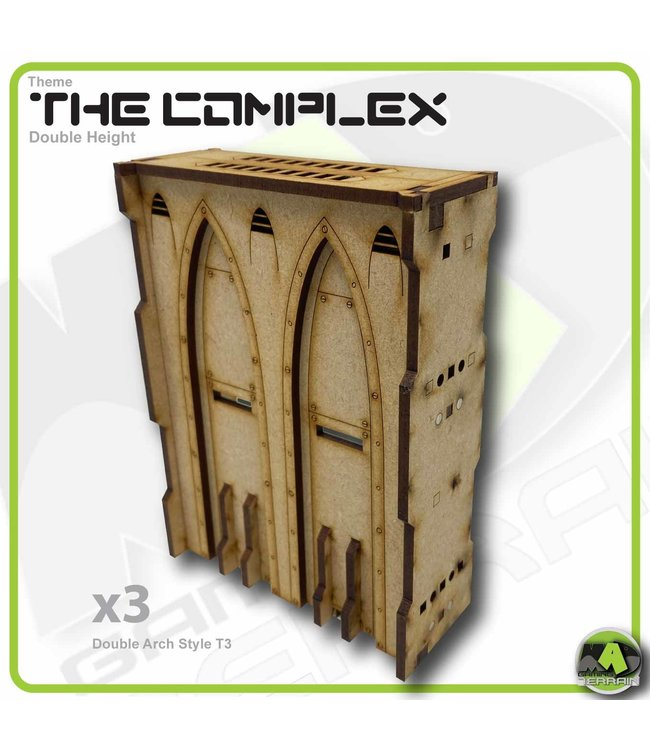 MAD Gaming Terrain Double Height Large Wall Filled Double Arch T3