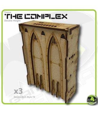 MAD Gaming Terrain Double Height Large Wall Filled Double Arch T2