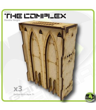 MAD Gaming Terrain Double Height Large Wall Filled Double Arch T1