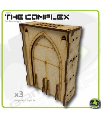 MAD Gaming Terrain Double Height Large Wall Filled Single Arch T4
