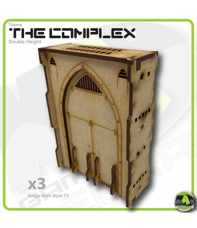 MAD Gaming Terrain Double Height Large Wall Filled Single Arch T3