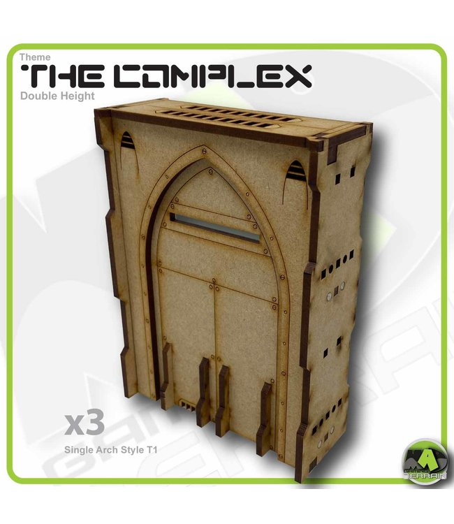 MAD Gaming Terrain Double Height Large Wall Filled Single Arch  T1