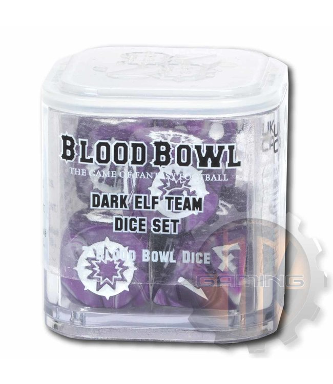 Blood Bowl Blood Bowl: Dark Elf Team Dice Set