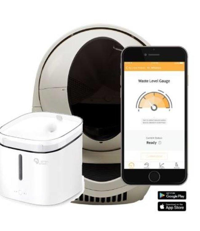 Litter-robot Combi Litter Robot Open Air - Wifi Connect Beige  + distributeur d'eau