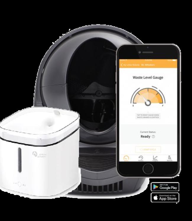 Litter-robot Combi Litter Robot Open Air - Wifi Connect Grey  + WATERDISPENSER