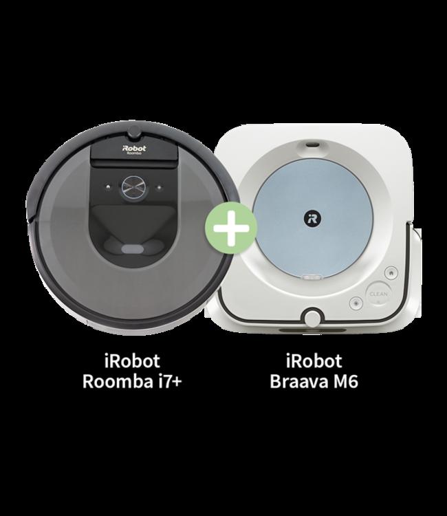 iRobot Bundle iRobot Braava M6138  + Roomba I7+