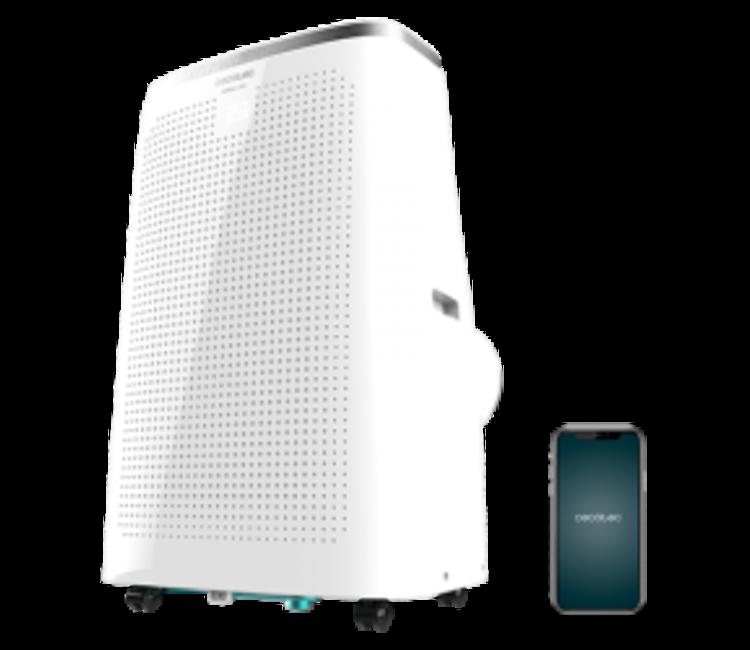 Cecotec Climatiseur portable ForceClima 12750 Cold/&Warm Connected t/él/écommande pompe /à chaleur contr/ôle WiFi 3 vitesses affichage LED 5 modes 1340 W 120000 BTU
