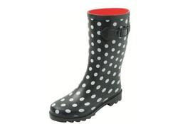 Gevavi Boots Stip Zwart Rubber Regenlaarzen Dames