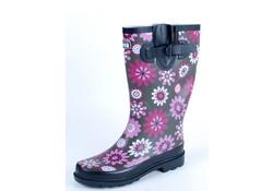 Gevavi Boots Jade Rubber Roze Bruin Regenlaarzen Dames