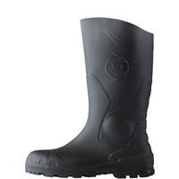 H142011 PVC S5 Zwart Knielaarzen Uniseks