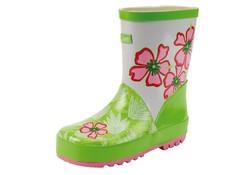 Gevavi Boots Emma Rubber Groen Wit Regenlaarzen Meisjes