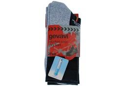 Gevavi Workwear GW81 Coolmax Zwart 2 Paar/Bundel Sokken