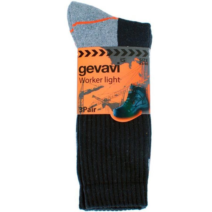 GW80 Worker Light Zwart 3 Paar/Bundel Sokken