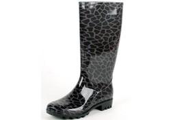 Gevavi Boots Elsa PVC Zwart Regenlaarzen Dames