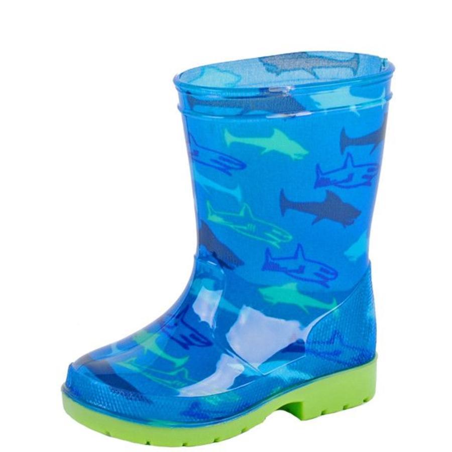 Haai PVC Blauw Regenlaarzen Kinderen