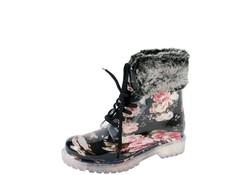 Gevavi Boots Hind PVC Zwart Laarzen Dames