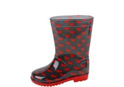 Gevavi Boots Love PVC Rood Regenlaarzen Kinderen