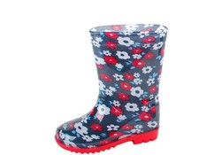 Gevavi Boots Flower PVC Blauw Regenlaarzen Kinderen