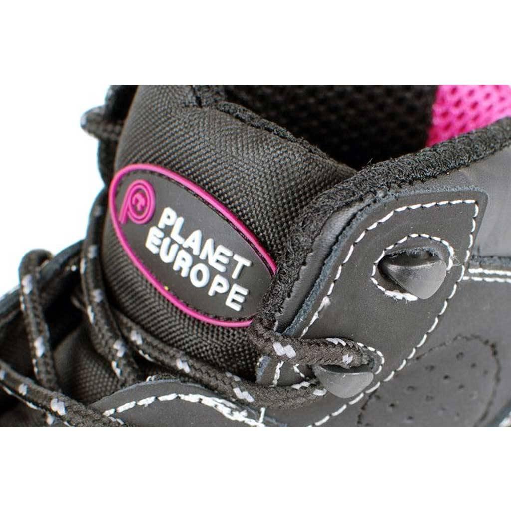 Werkschoenen Sneakers Dames.Planet Europe Finesse Zwart Hoge Veiligheidsschoenen S3 Dames