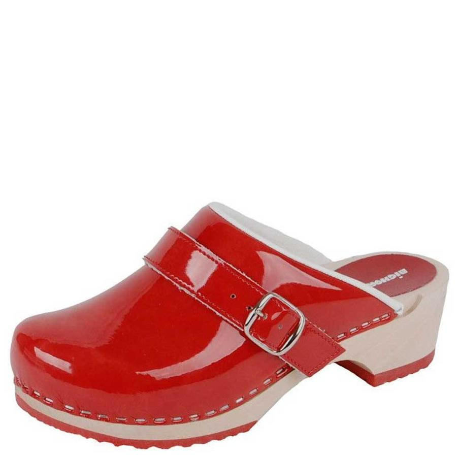 6038 Rood Clogs Dames