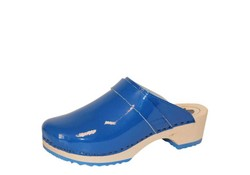 BigHorn 6006 Blauw Lak Clogs Dames
