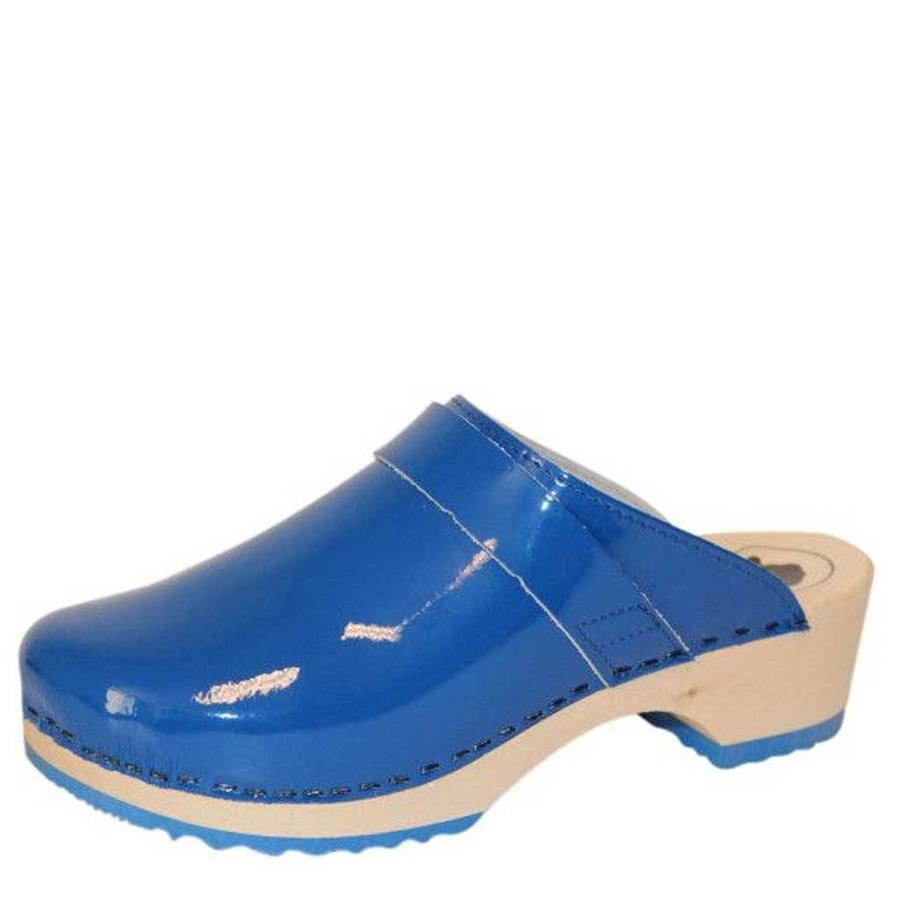 6006 Blauw Lak Clogs Dames