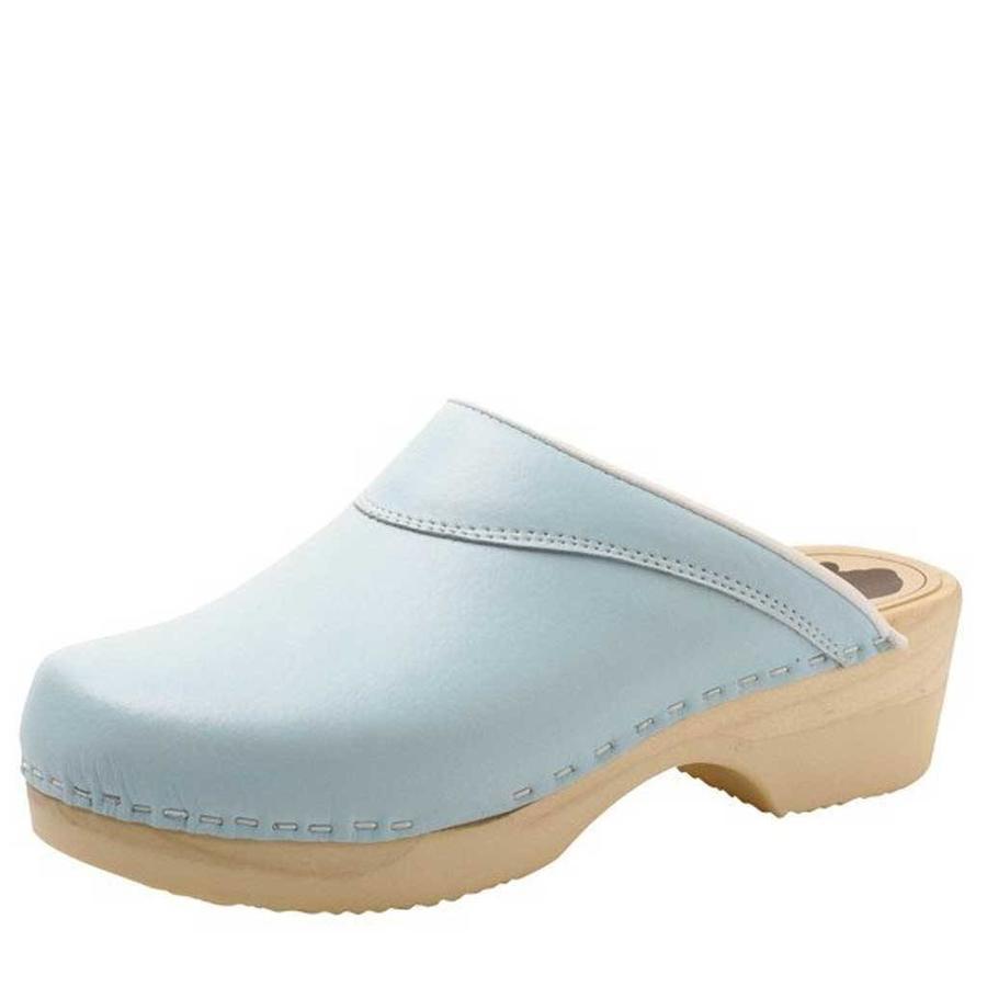 4010 Lichtblauw Klompen Dames