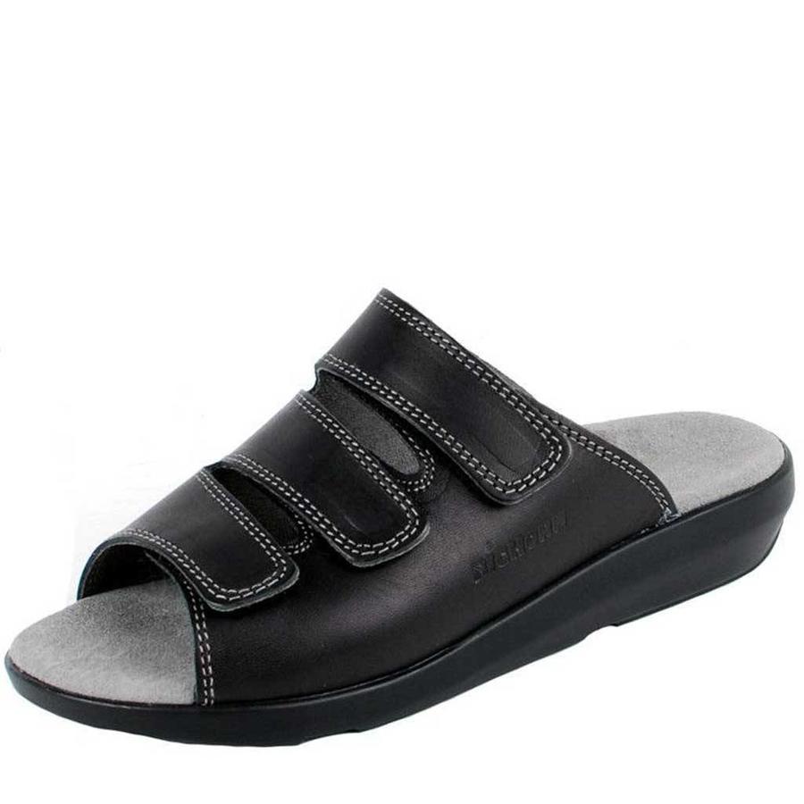 3201 Zwart Slippers Dames