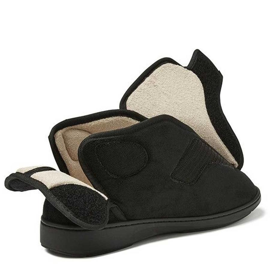Geres Zwart Pantoffels