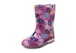 Gevavi Boots Fien PVC Roze Bloem Meisjeslaarzen