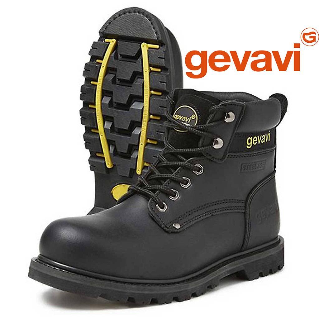 Hoge Werkschoenen Met Stalen Neus.Gevavi Safety Gs75 Boston Zwart Hoge Veiligheidsschoenen S3 Heren